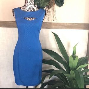 Nikibiki Cutout Polka Dot Fitted Dress